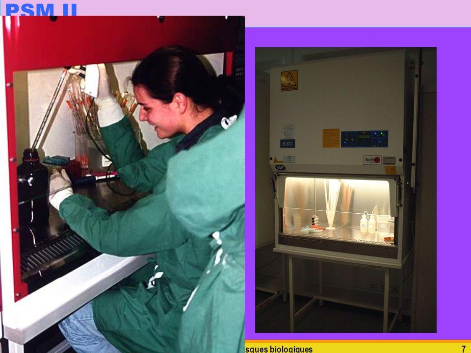 PSM II N'oublions pas l'utilisation de filtres HEPA pour filtrer les gaz dans le PSM… mardi 5 janvier 2010.