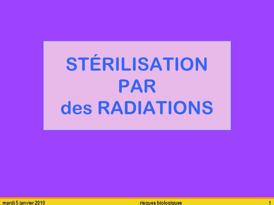 STÉRILISATION PAR des RADIATIONS