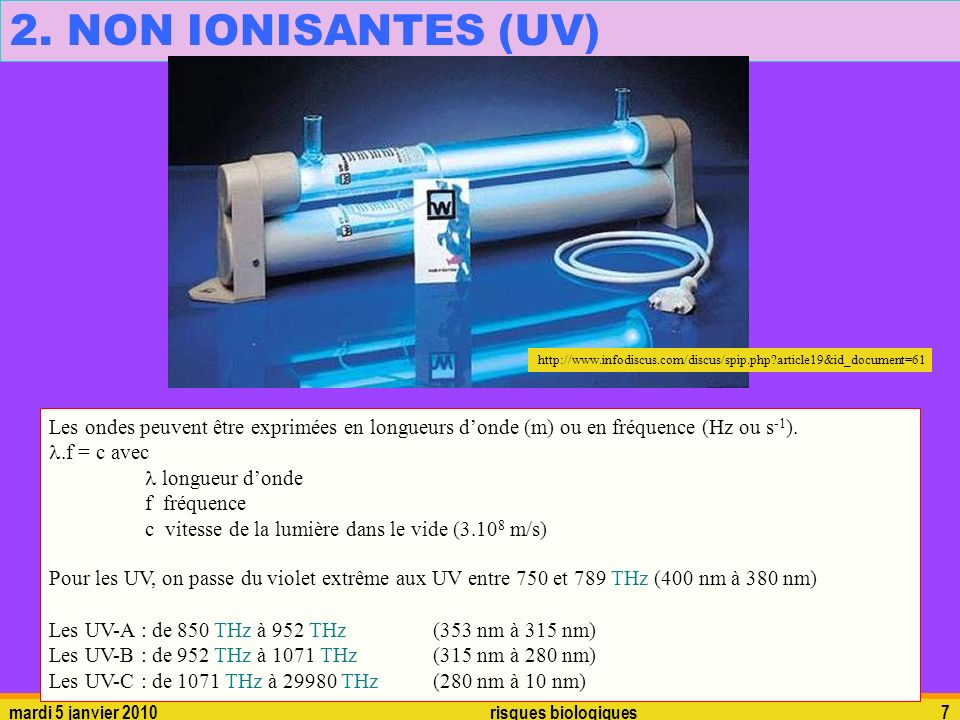 2. NON IONISANTES (UV)   article19&id_document=61.