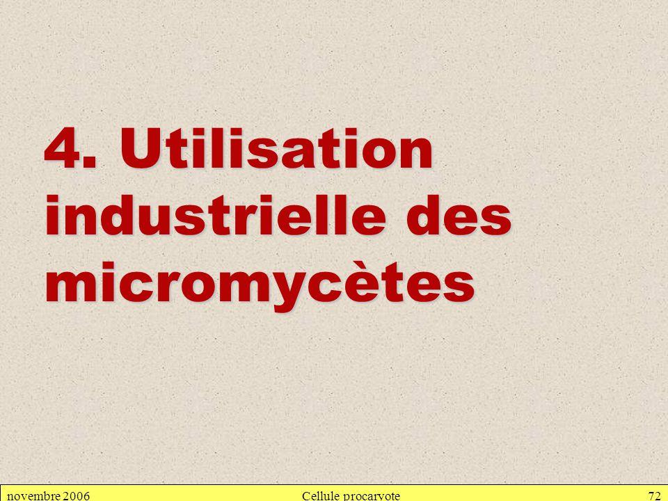 4. Utilisation industrielle des micromycètes