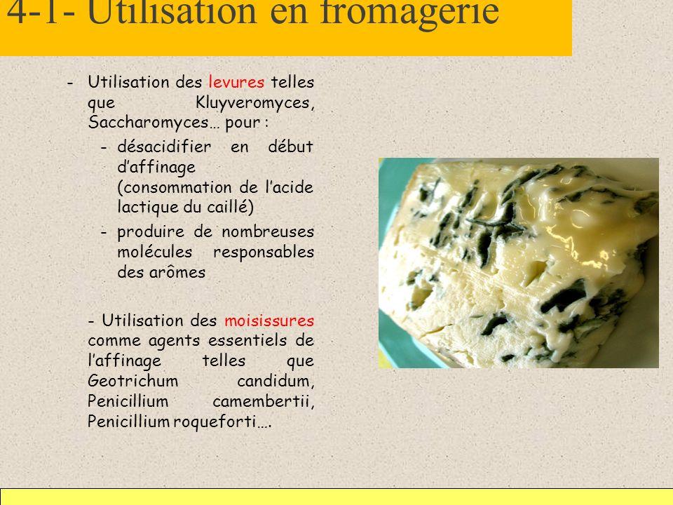 4-1- Utilisation en fromagerie