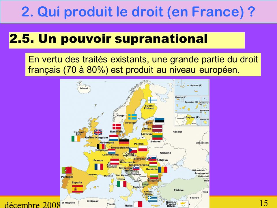 2. Qui produit le droit (en France)