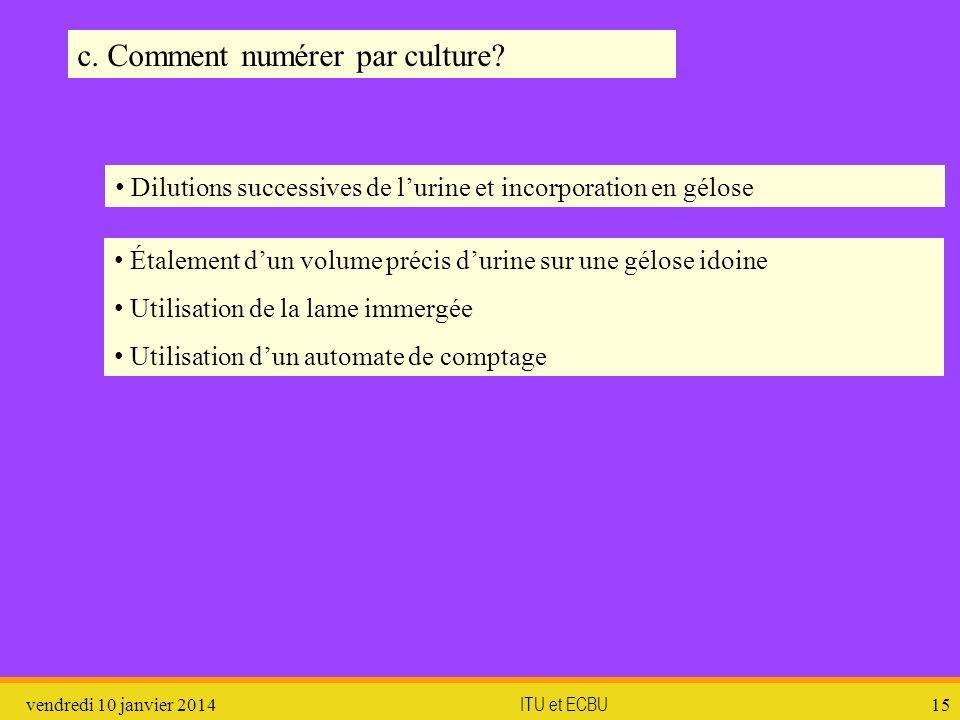 c. Comment numérer par culture