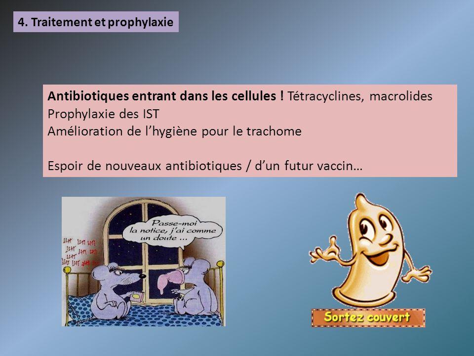 Antibiotiques entrant dans les cellules ! Tétracyclines, macrolides