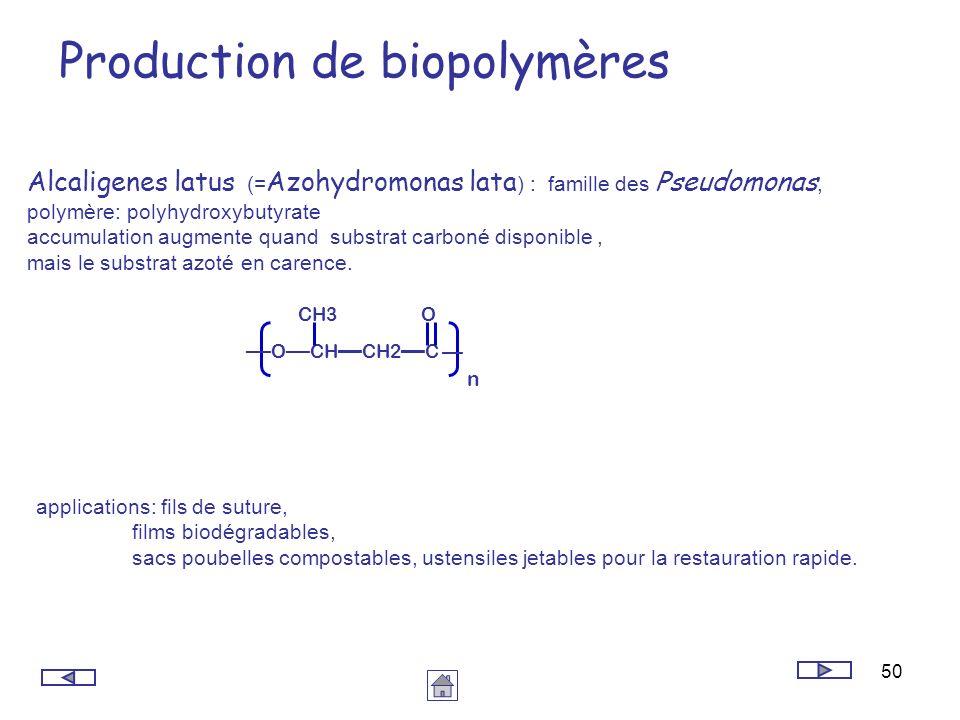 Production de biopolymères