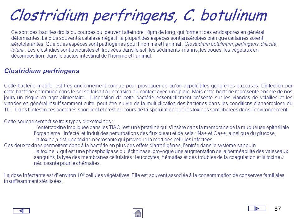 Clostridium perfringens, C. botulinum