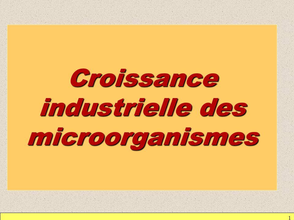 Croissance industrielle des microorganismes