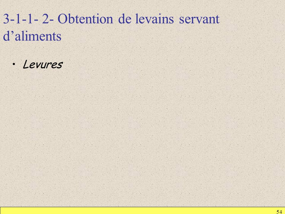 3-1-1- 2- Obtention de levains servant d'aliments