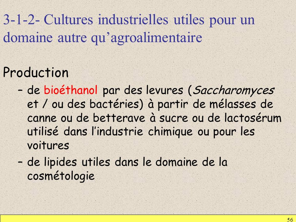 3-1-2- Cultures industrielles utiles pour un domaine autre qu'agroalimentaire