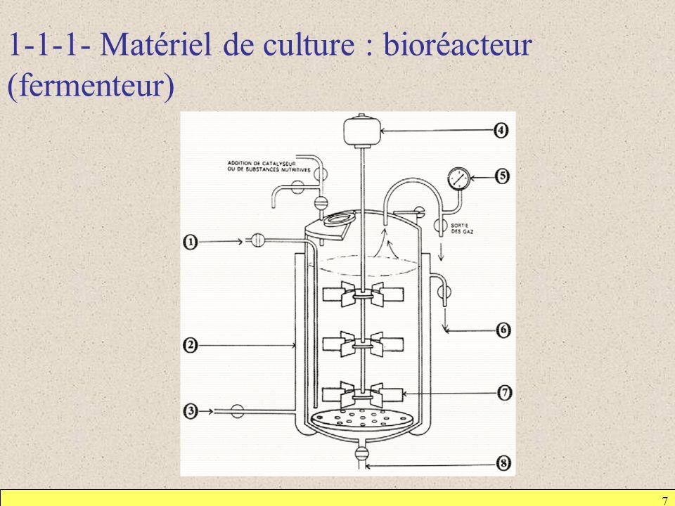 1-1-1- Matériel de culture : bioréacteur (fermenteur)