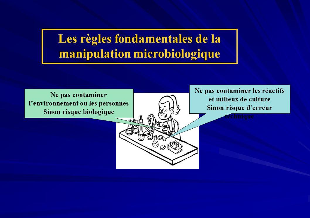 Les règles fondamentales de la manipulation microbiologique