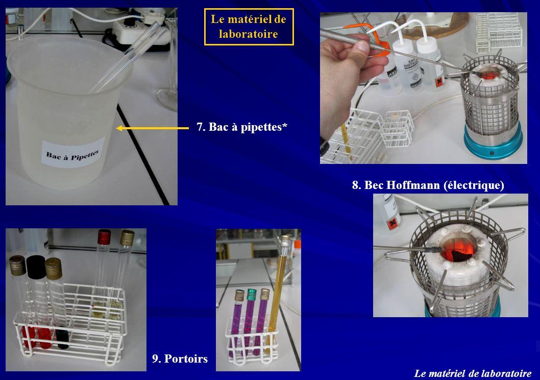 Le matériel de laboratoire