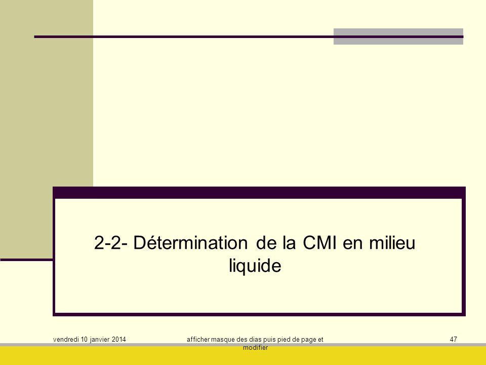 2-2- Détermination de la CMI en milieu liquide