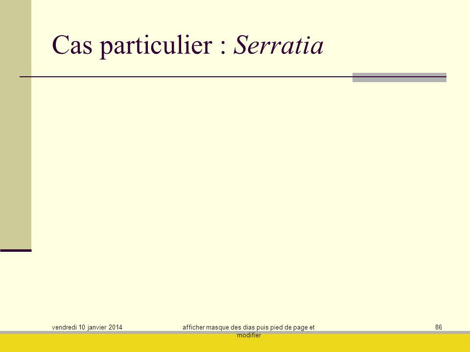 Cas particulier : Serratia