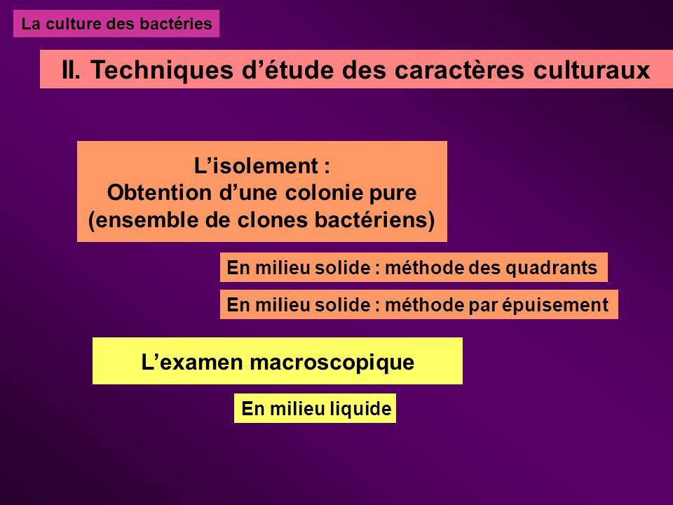 II. Techniques d'étude des caractères culturaux