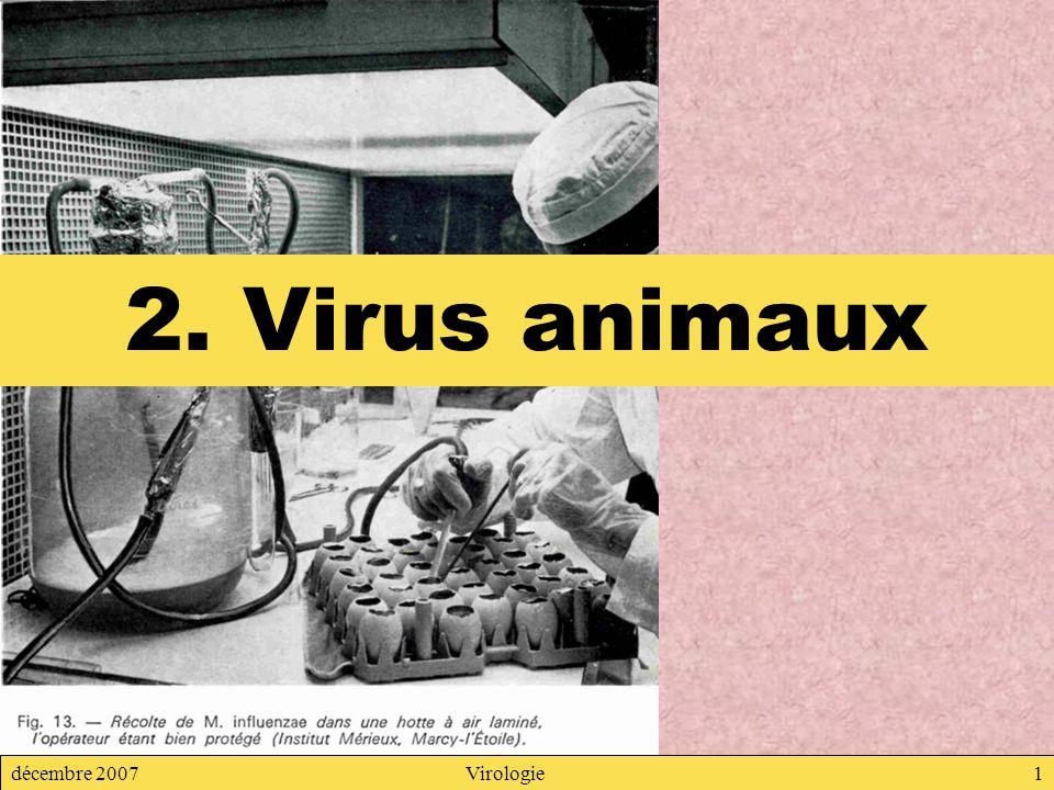 2. Virus animaux décembre 2007 Virologie