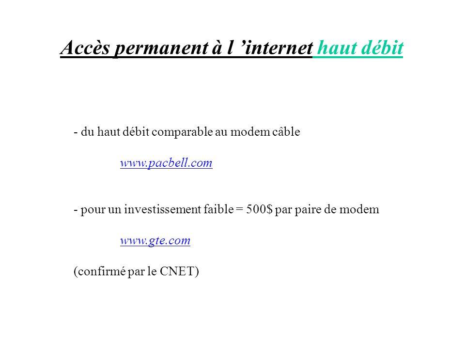 Accès permanent à l 'internet haut débit