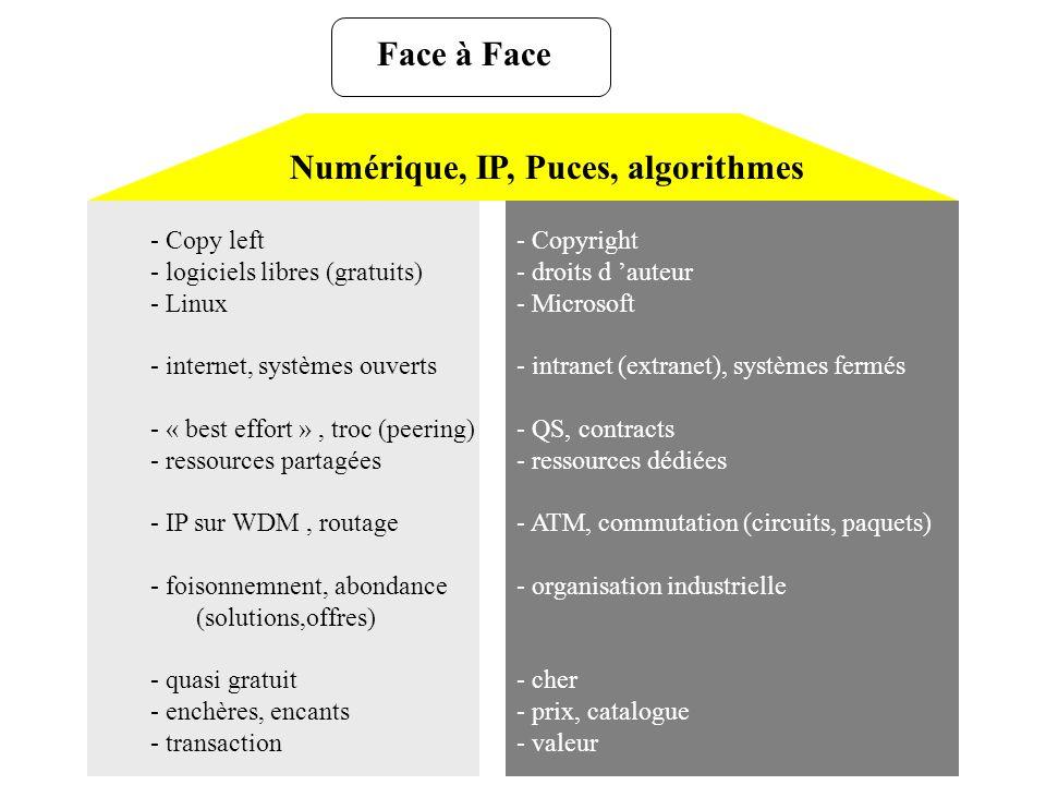 Numérique, IP, Puces, algorithmes