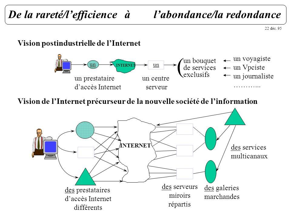 ( De la rareté/l'efficience à l'abondance/la redondance