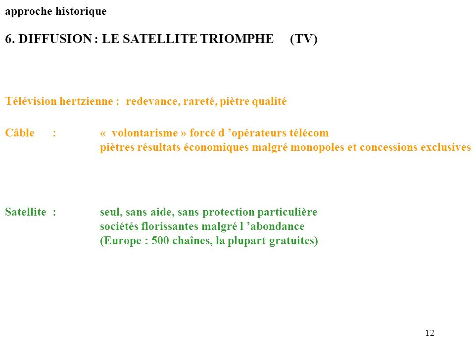 6. DIFFUSION : LE SATELLITE TRIOMPHE (TV)