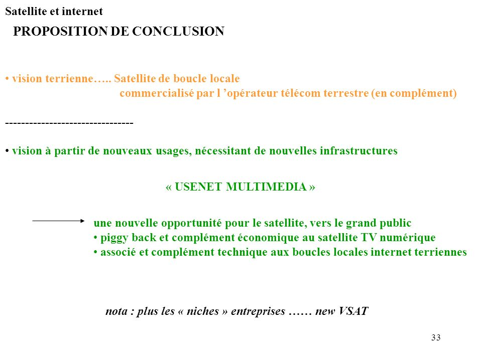 PROPOSITION DE CONCLUSION