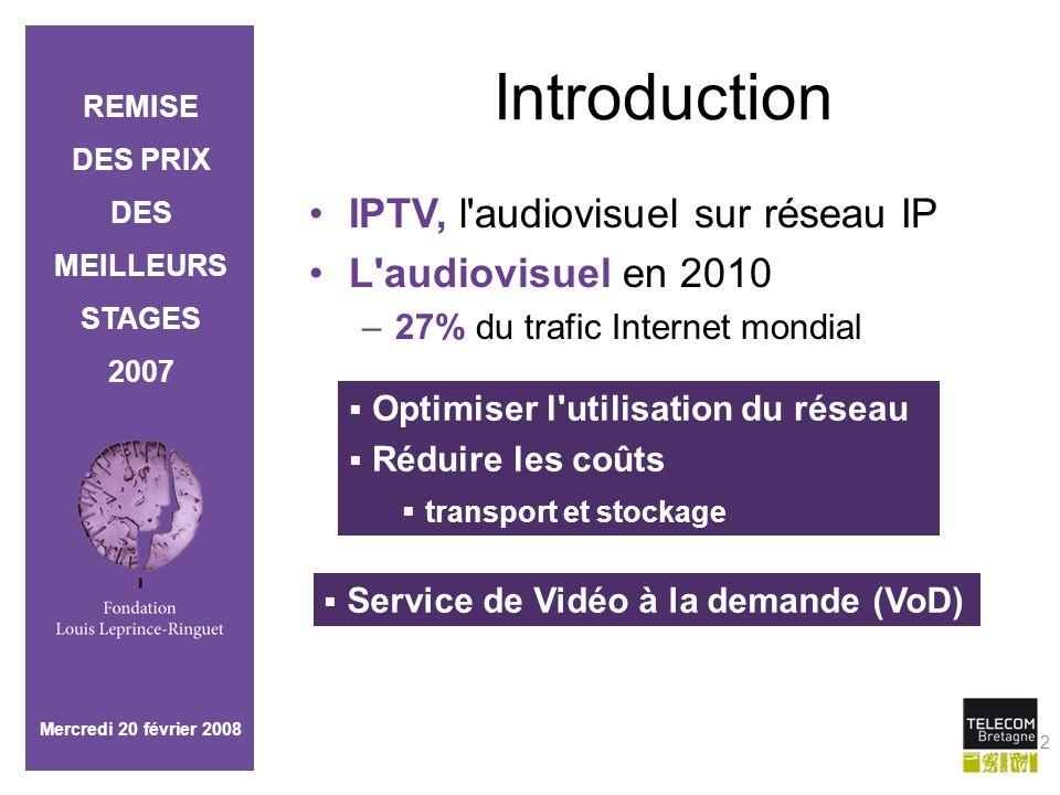 Introduction IPTV, l audiovisuel sur réseau IP L audiovisuel en 2010