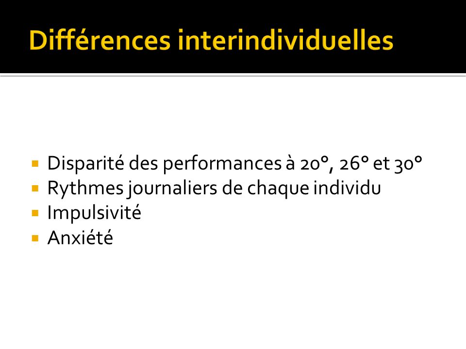 Différences interindividuelles
