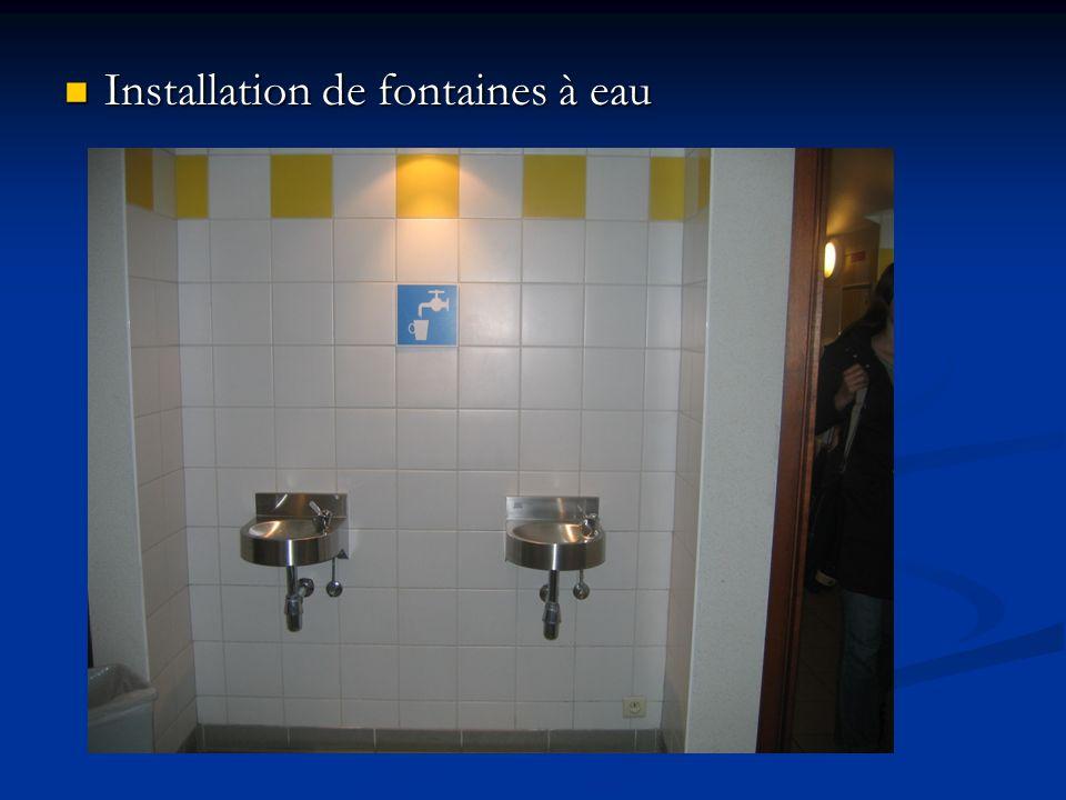 Installation de fontaines à eau