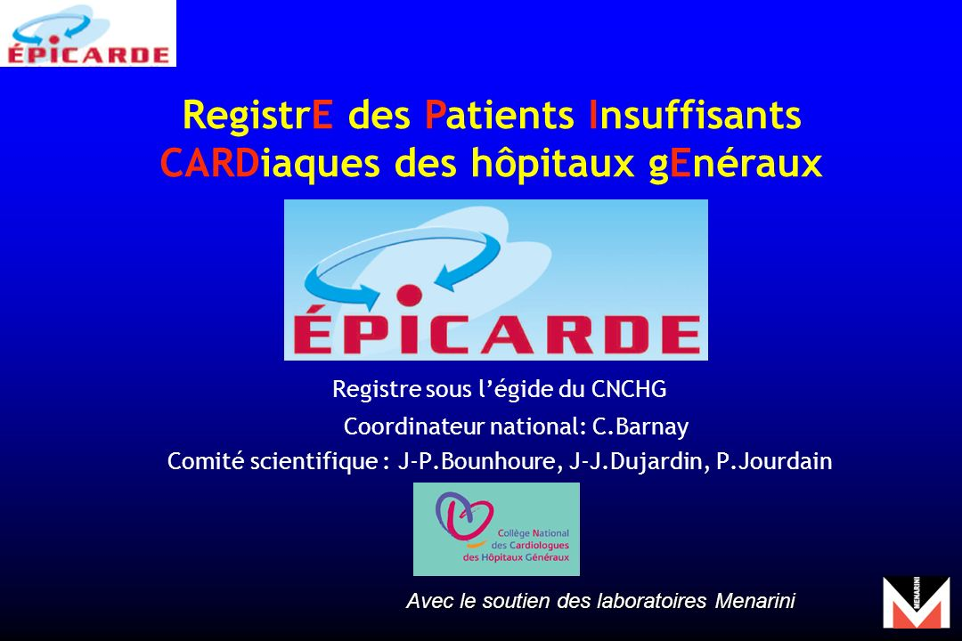 RegistrE des Patients Insuffisants CARDiaques des hôpitaux gEnéraux