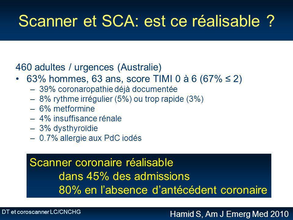 Scanner et SCA: est ce réalisable