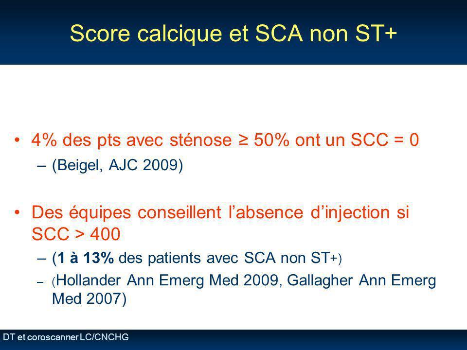 Score calcique et SCA non ST+