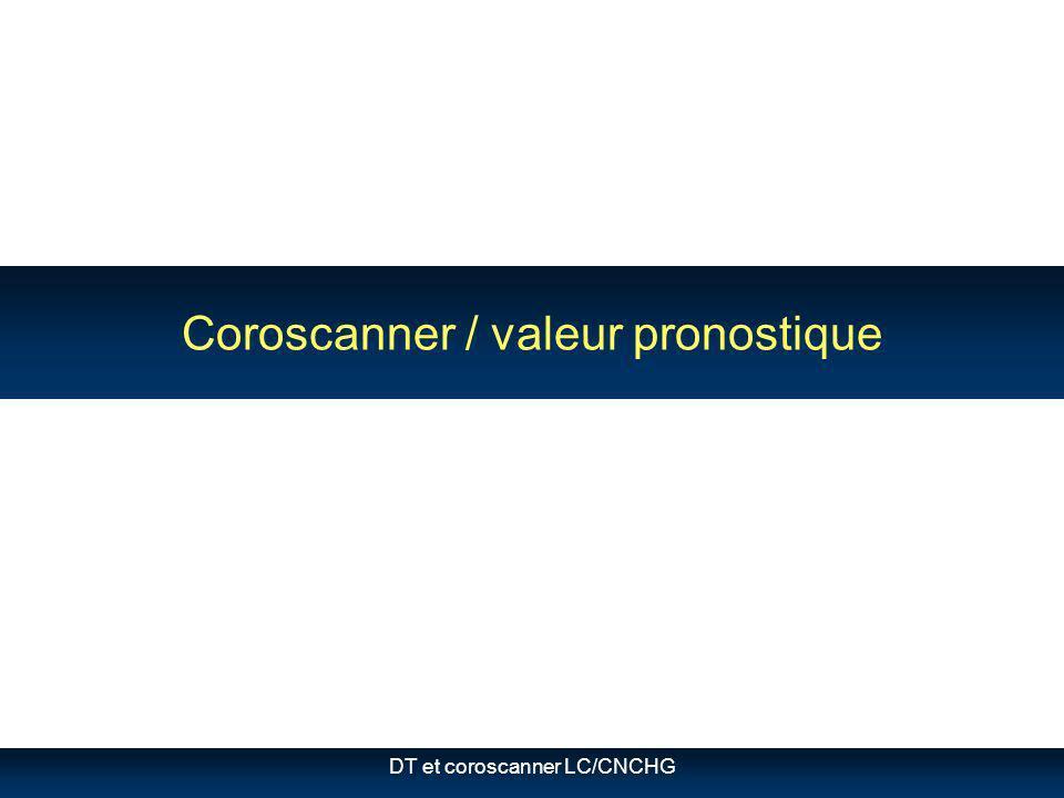 Coroscanner / valeur pronostique