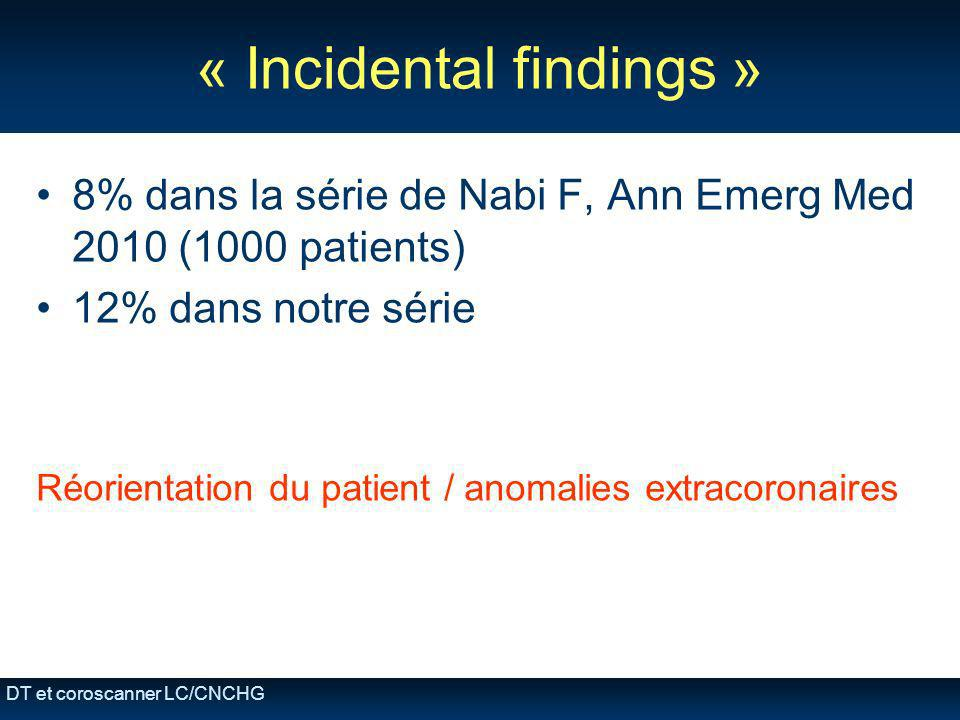 « Incidental findings »