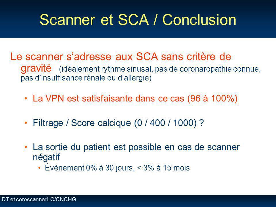 Scanner et SCA / Conclusion
