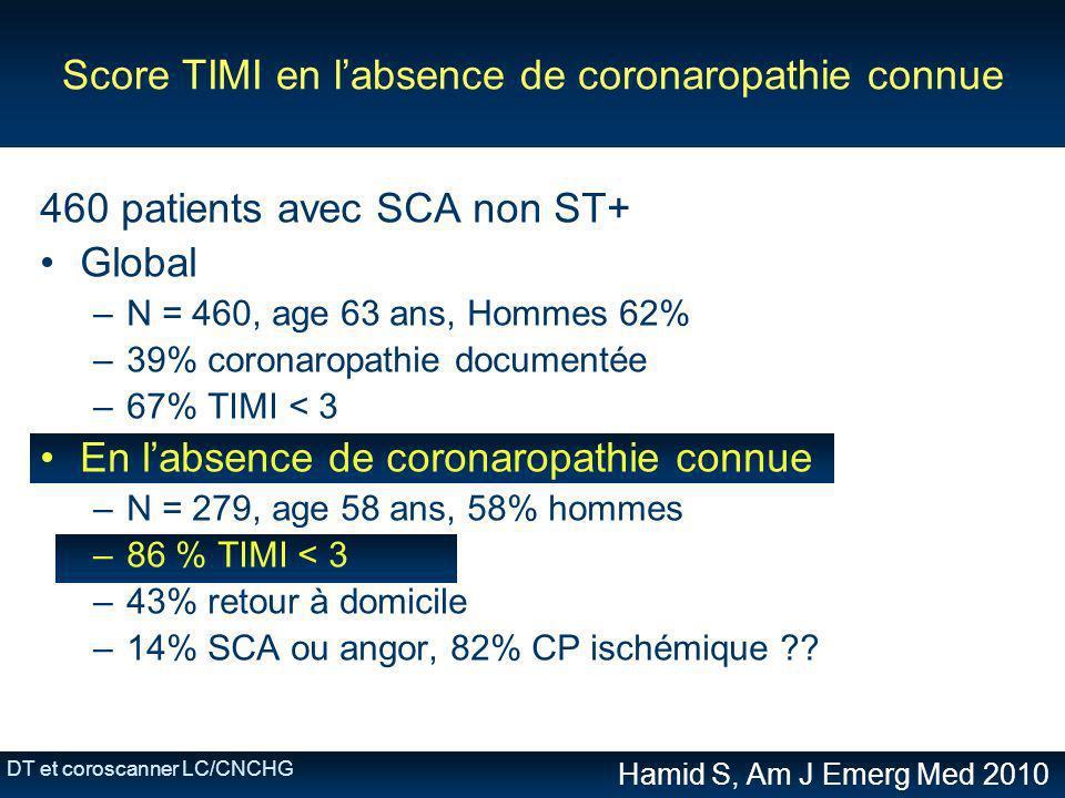 Score TIMI en l'absence de coronaropathie connue