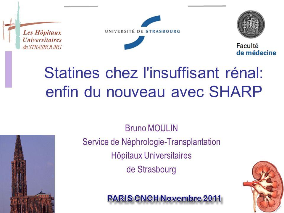 Statines chez l insuffisant rénal: enfin du nouveau avec SHARP