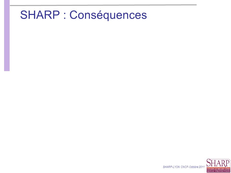SHARP : Conséquences SHARP-LYON CNCF-Octobre 2011