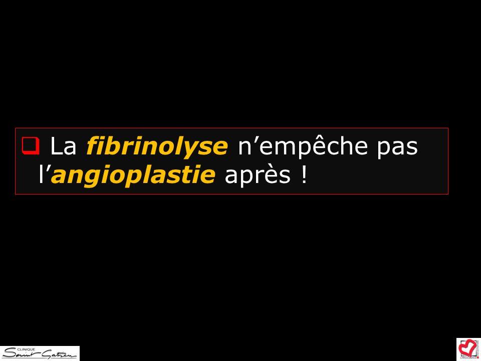 La fibrinolyse n'empêche pas l'angioplastie après !