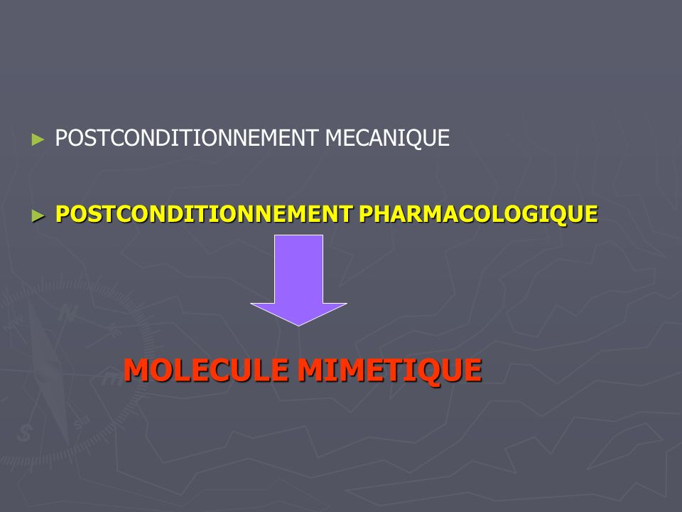 MOLECULE MIMETIQUE POSTCONDITIONNEMENT MECANIQUE