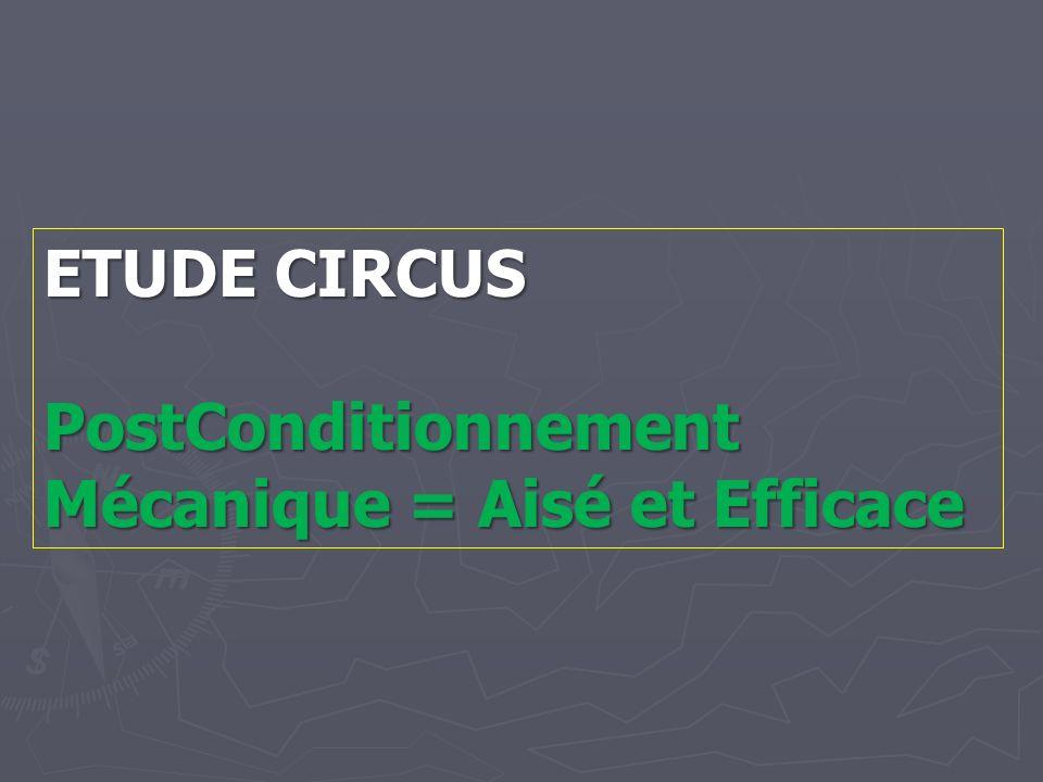 ETUDE CIRCUS PostConditionnement Mécanique = Aisé et Efficace