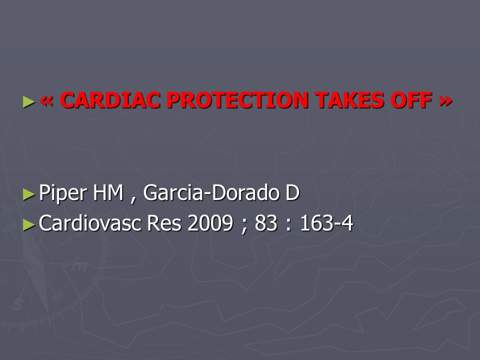 « CARDIAC PROTECTION TAKES OFF »