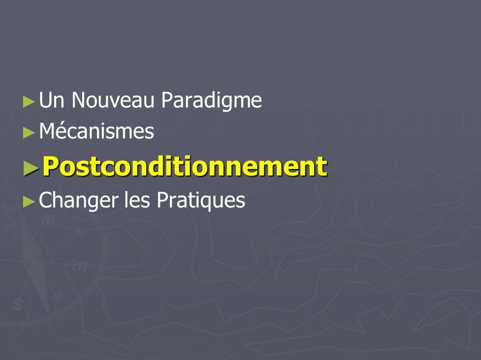 Postconditionnement Un Nouveau Paradigme Mécanismes