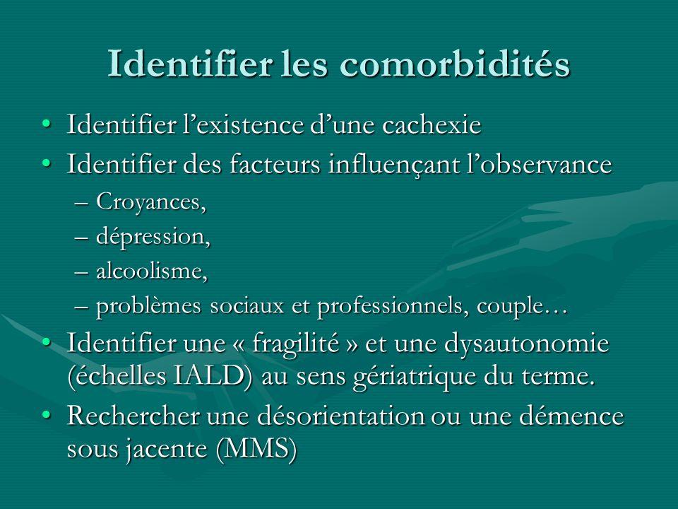 Identifier les comorbidités