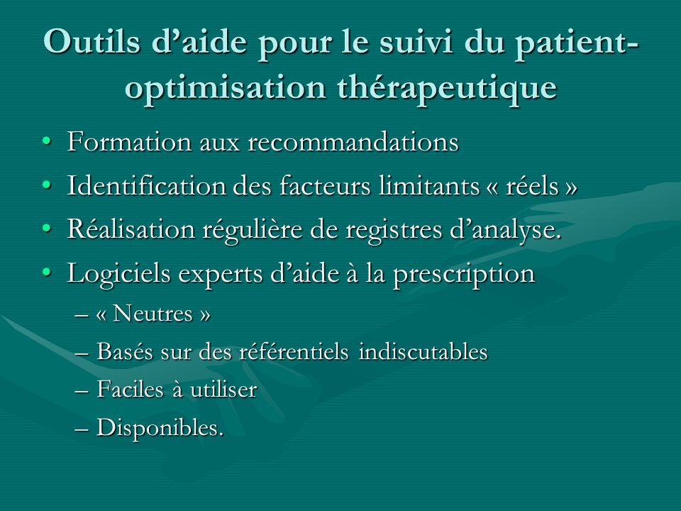 Outils d'aide pour le suivi du patient- optimisation thérapeutique