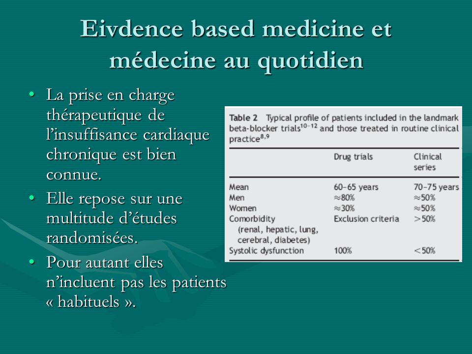 Eivdence based medicine et médecine au quotidien