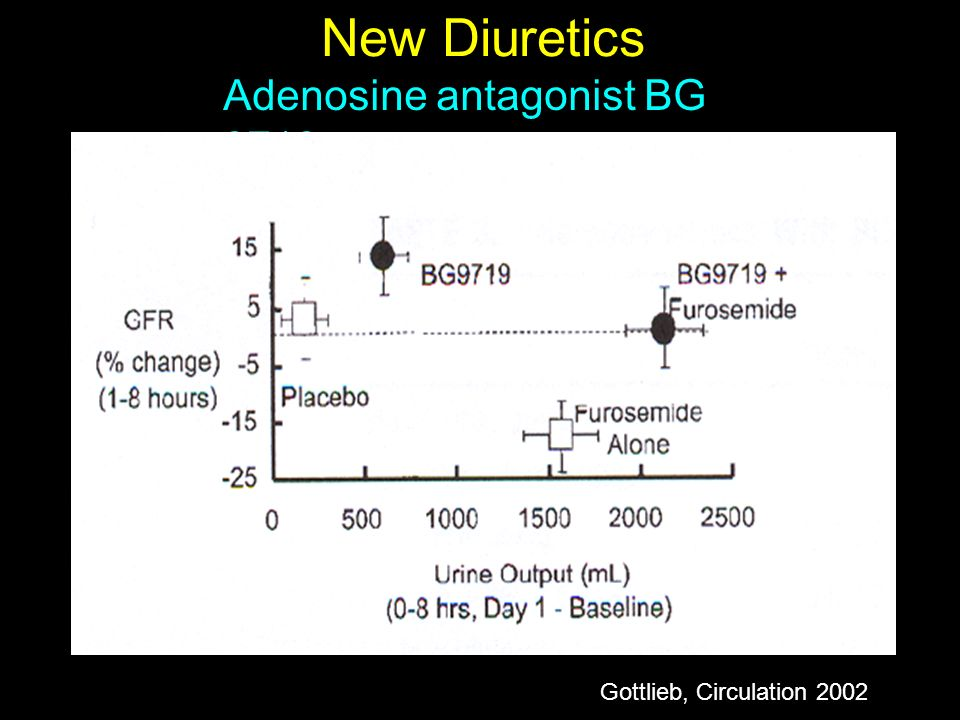 New Diuretics Adenosine antagonist BG 9719 Gottlieb, Circulation 2002