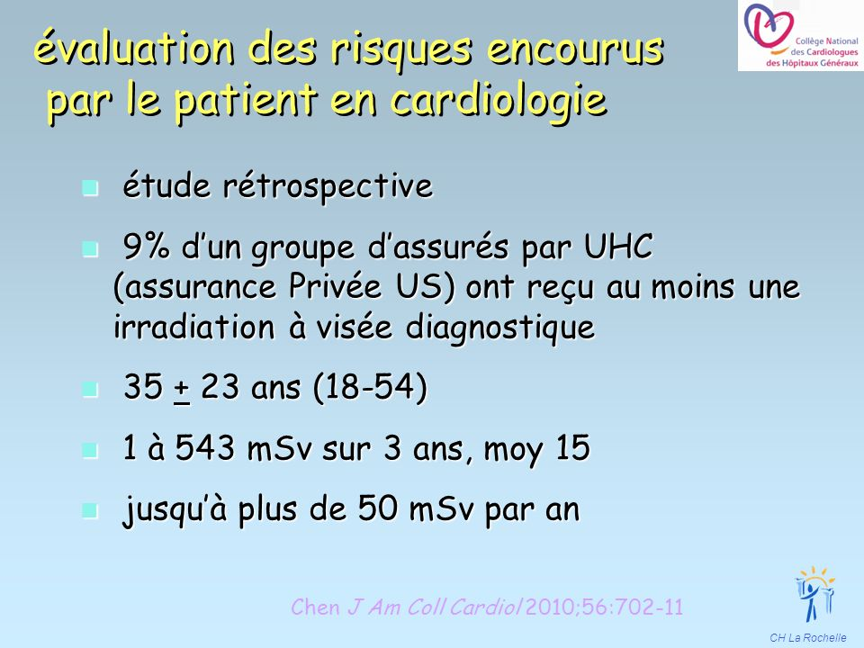 évaluation des risques encourus par le patient en cardiologie