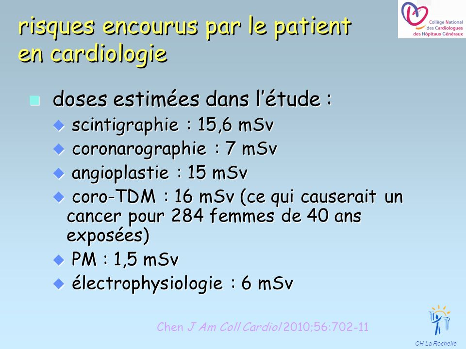 risques encourus par le patient en cardiologie