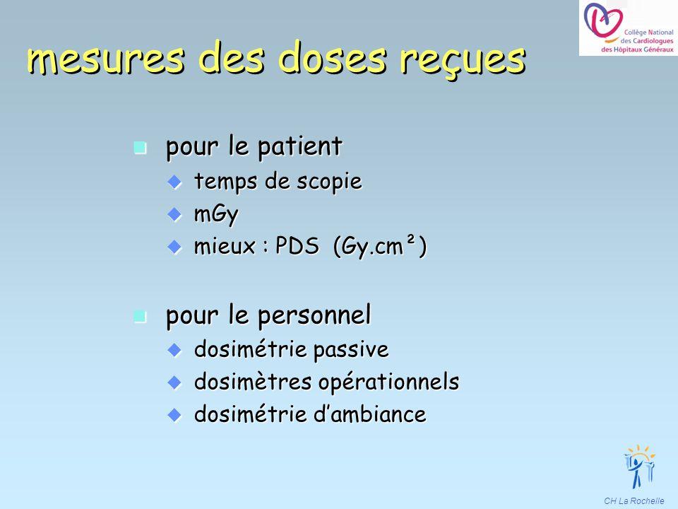mesures des doses reçues