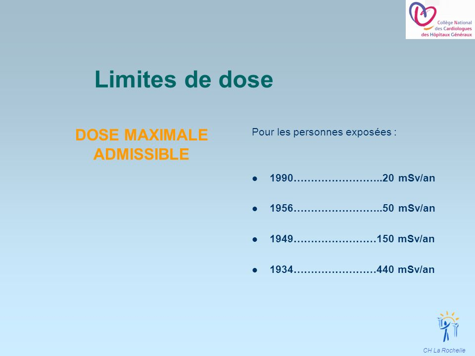 DOSE MAXIMALE ADMISSIBLE